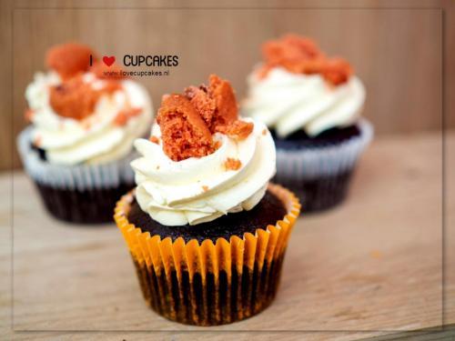 Crushed Red Velvet Cupcake